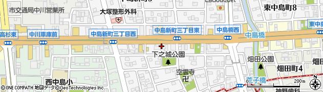 モスバーガー ルート1中島店周辺の地図