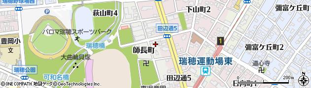 愛知県名古屋市瑞穂区師長町周辺の地図