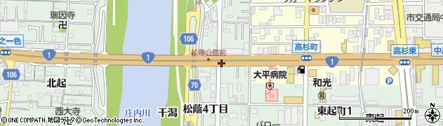 愛知県名古屋市中川区下之一色町(松蔭3丁目)周辺の地図