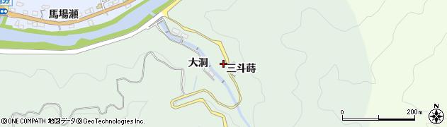 愛知県豊田市篭林町(三斗蒔)周辺の地図