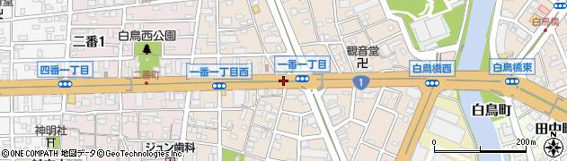愛知県名古屋市熱田区一番周辺の地図