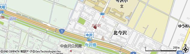 静岡県沼津市北今沢周辺の地図