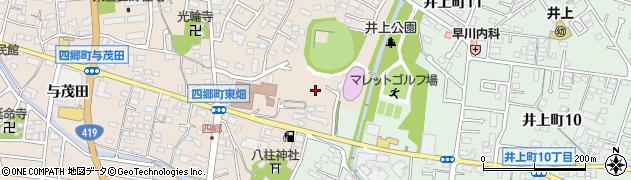 愛知県豊田市四郷町(東畑)周辺の地図