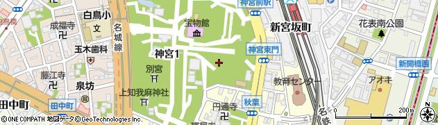 愛知県名古屋市熱田区神宮周辺の地図