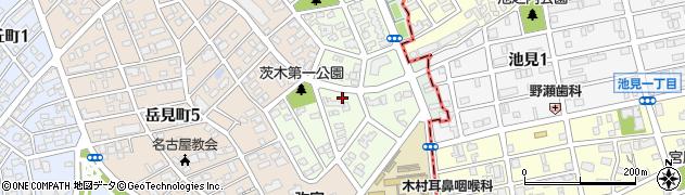 愛知県名古屋市瑞穂区茨木町周辺の地図