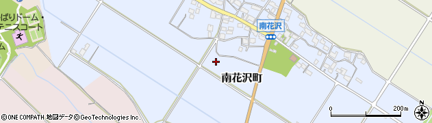 滋賀県東近江市南花沢町周辺の地図