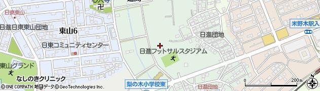 愛知県日進市藤枝町周辺の地図