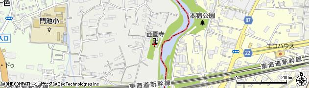 西園寺周辺の地図