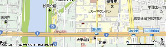 愛知県名古屋市中川区高杉町周辺の地図