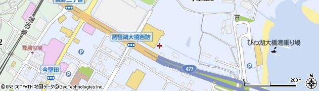 滋賀県大津市今堅田周辺の地図