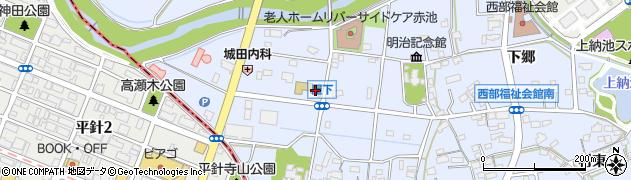 愛知県日進市赤池町(屋下)周辺の地図