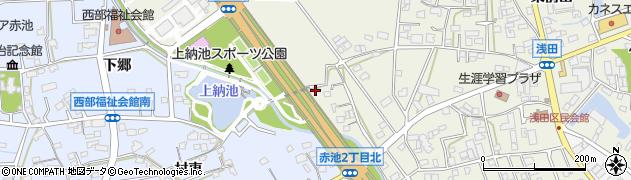愛知県日進市浅田町(西田面)周辺の地図