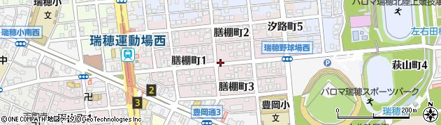 愛知県名古屋市瑞穂区膳棚町周辺の地図