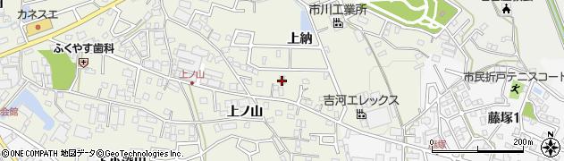 愛知県日進市浅田町(上納)周辺の地図