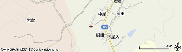 愛知県豊田市成合町(根畑)周辺の地図