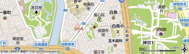 愛知県名古屋市熱田区白鳥周辺の地図