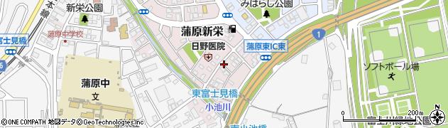 静岡県静岡市清水区蒲原新栄周辺の地図