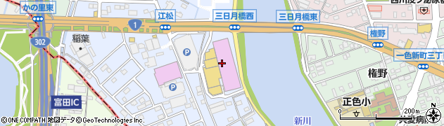 フードコート中川店周辺の地図