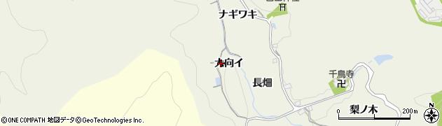 愛知県豊田市千鳥町(大向イ)周辺の地図