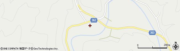 京都府京都市右京区京北細野町(久保)周辺の地図