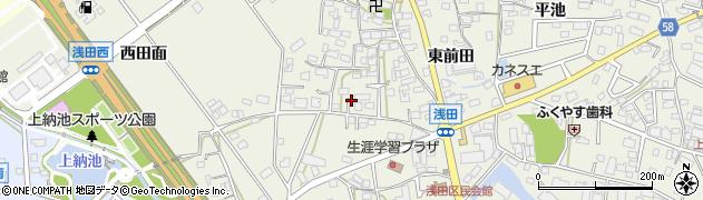 愛知県日進市浅田町(西前田)周辺の地図