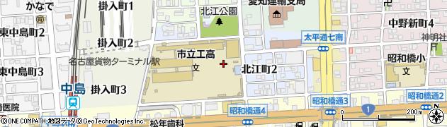 愛知県名古屋市中川区北江町周辺の地図