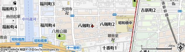愛知県名古屋市中川区八剱町周辺の地図