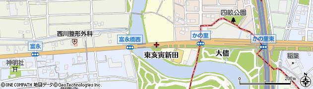 愛知県名古屋市中川区富田町大字包里(西亥寅新田)周辺の地図