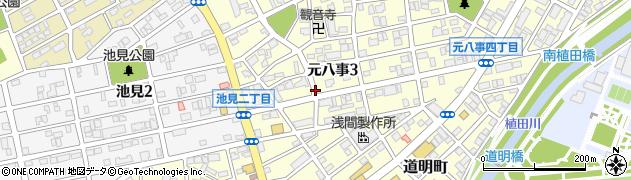 愛知県名古屋市天白区元八事周辺の地図