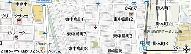 愛知県名古屋市中川区東中島町周辺の地図