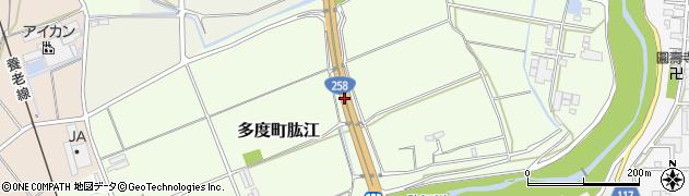 一般国道258号周辺の地図