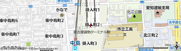 愛知県名古屋市中川区掛入町周辺の地図