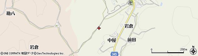 愛知県豊田市成合町(中屋)周辺の地図
