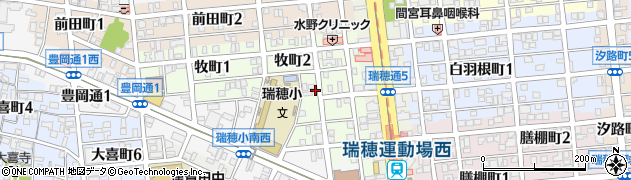 愛知県名古屋市瑞穂区牧町周辺の地図