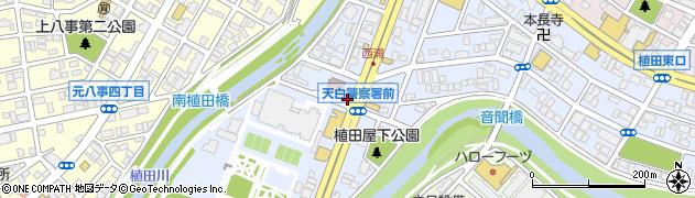愛知県名古屋市天白区植田南周辺の地図