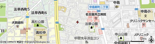 愛知県名古屋市中川区法華周辺の地図