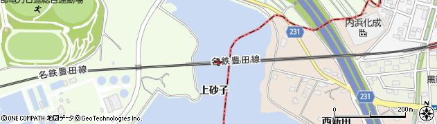 愛知県日進市米野木町(上砂子)周辺の地図