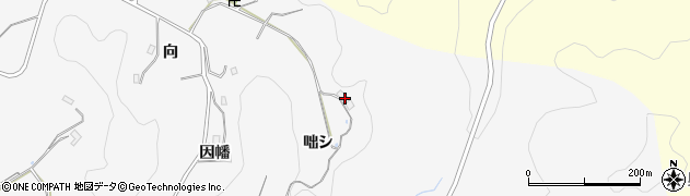 愛知県豊田市綾渡町(咄シ)周辺の地図