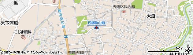 四郷町山畑周辺の地図