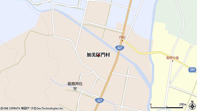 〒679-1335 兵庫県多可郡多可町加美区門村の地図