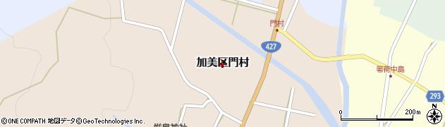 兵庫県多可町(多可郡)加美区門村周辺の地図