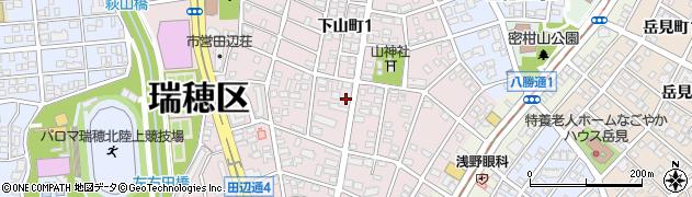 愛知県名古屋市瑞穂区下山町周辺の地図
