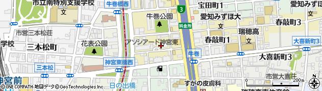 弐番館周辺の地図