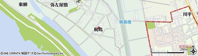 愛知県愛西市森川町(梶島)周辺の地図
