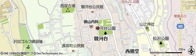 静岡県沼津市駿河台周辺の地図