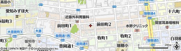 愛知県名古屋市瑞穂区前田町周辺の地図