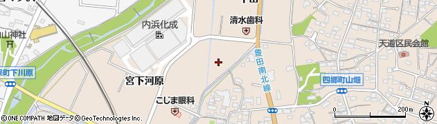 愛知県豊田市四郷町(辻)周辺の地図