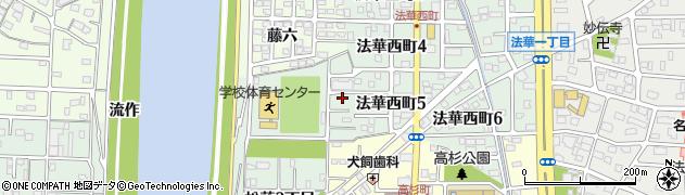 愛知県名古屋市中川区下之一色町(松蔭1丁目)周辺の地図