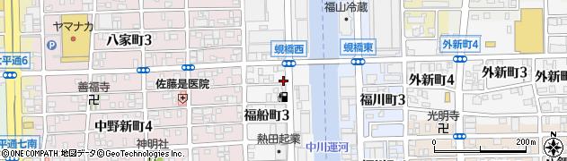愛知県名古屋市中川区福船町周辺の地図