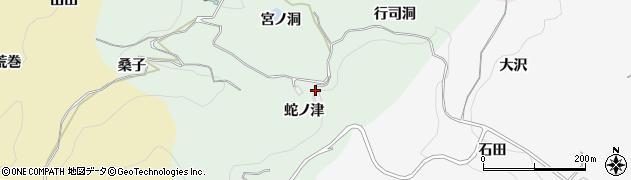 愛知県豊田市椿立町(蛇ノ津)周辺の地図